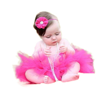 16 Color 2016 NEW Princess Baby Tutu With Matching Flower Headband Set Newborn Photography Props Little