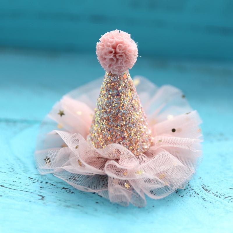 1 PC Fashion Cute Girl Crown Princess Hairpin Lace Pearl Shiny Star Headband Hairpin Hairpin Hair Accessories Hair Accessories