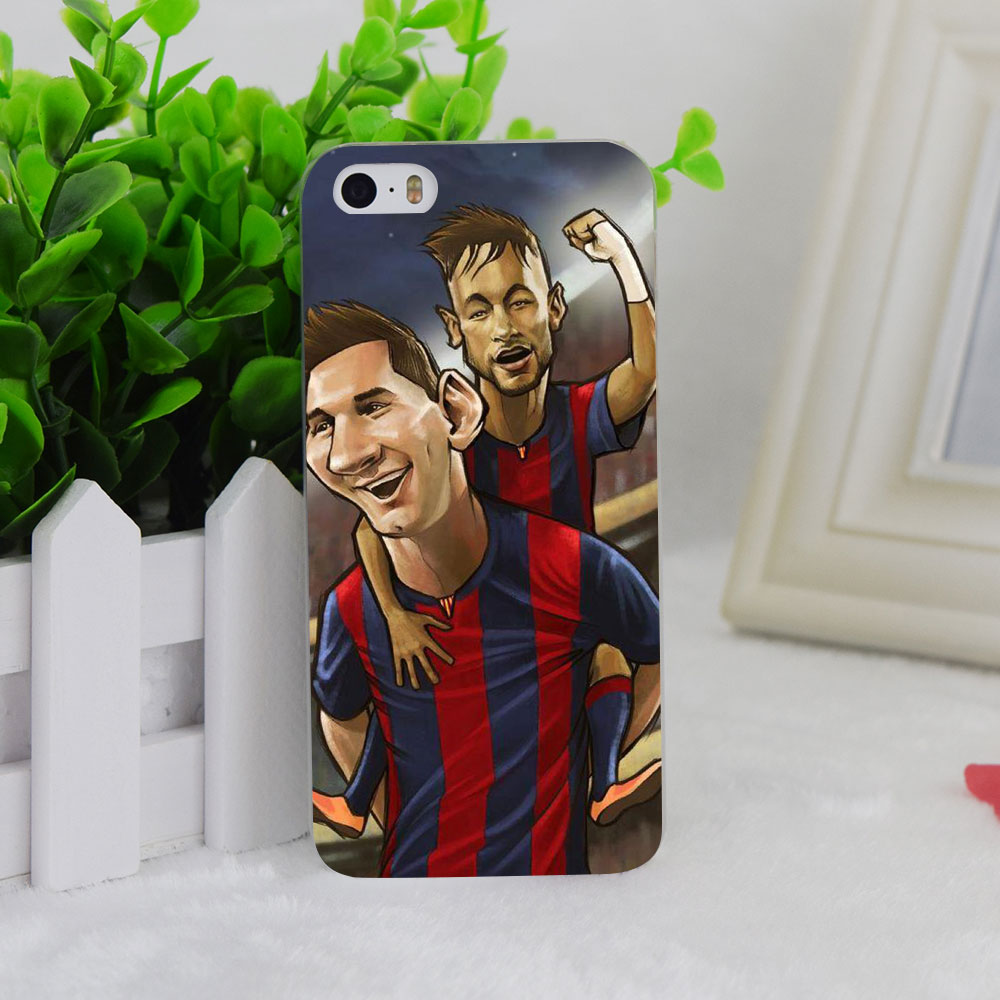 A2275 The Best Cartoon Neymar And Messi Transparent Hard Thin Case Cover For Apple iPhone 4 4S 5 5S SE 5C 6 6S 6Plus 6s Plus
