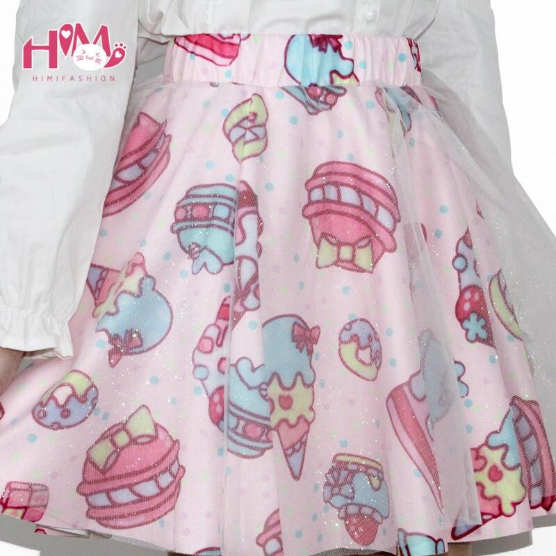 Soft Sister Lolita Short Skirts Japan Fashion Lady Tutu Skirt CakeStrawberry Cute High Waist Girls Gauze  Chiffon Skirt Female 3