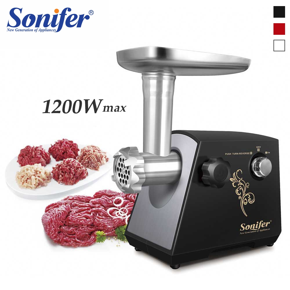 1200W Colorful Home Electric Meat Grinder Sausage Stuffer Mincer 220V Heavy Duty Household Mincer Sonifer1200W Colorful Home Electric Meat Grinder Sausage Stuffer Mincer 220V Heavy Duty Household Mincer Sonifer