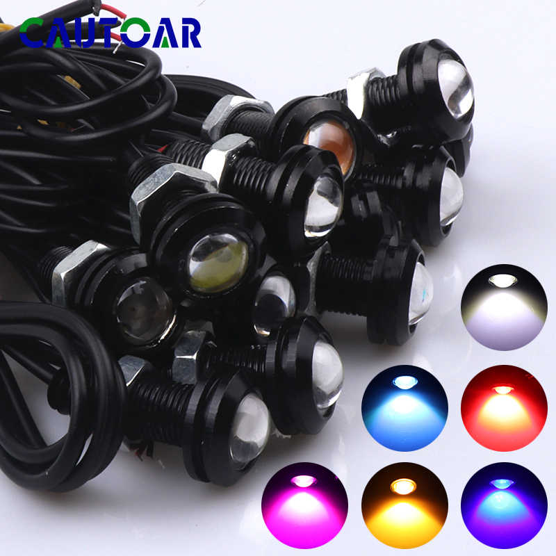 1pcs 8W Daytime Running Lights Source Backup Reversing Parking Signal Lamp Fog light Waterproof 18mm black shell Eagle Eye LED