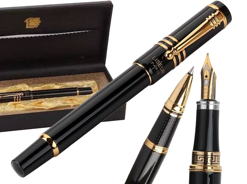 Fountain pen  Or Gel RollerBall pen Original HERO 608 sign pens  office and school stationery Free  Shipping fountain pen curved nib or straight nib to choose hero 6055 office and school calligraphy art pens free shipping