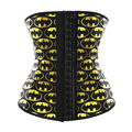 2016 batman Waist Trainer Cincher Underbust Yellow Corset Latex Steel Boned Body Shaper Shapewear latex rubber Corset XS Women