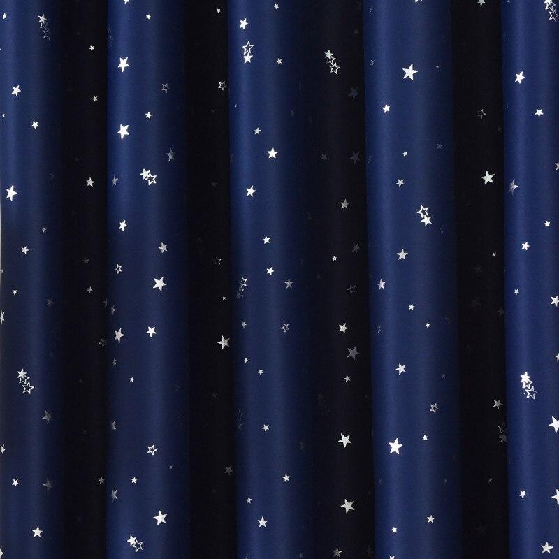 rideaux occultants etoiles argent brillant pour enfants chambre a coucher salle salon
