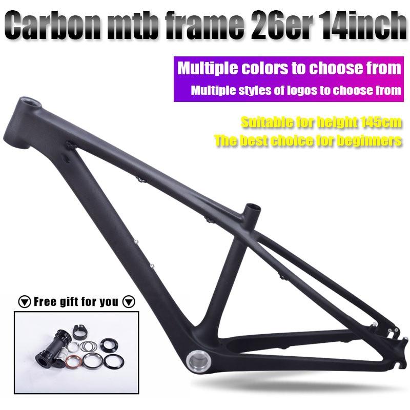 Chinese kids carbon 26er mtb frame mtb carbon frame 26er 14 inch carbon mtb frame 26