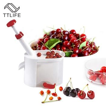 TTLIFE Yenilik Kolay Kiraz Meyve Çekirdek Tohum Sökücü Kiraz Pitter Seçici plastik saklama kutusu Mutfak Aracı Aksesuarları