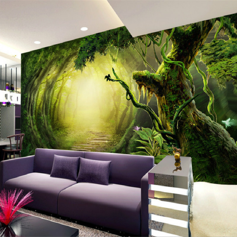 Buy mural 3d wallpaper for wall natural for Mural kids room