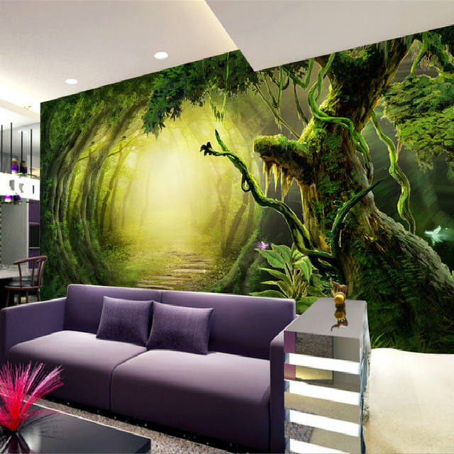 Mural 3D Wallpaper For Wall Natural Living Room Tv Sofa Background Magic Childrens Cartoon