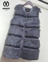 Sexy Fur Vest Women Rabbit Fur Vest 2017 New Fur Coat For Women Winter Autumn Brand