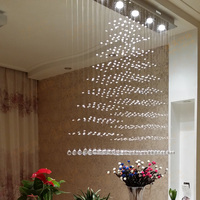 Прямая продажа с фабрики продажа 3 5 6 головок K9 Кристалл светодиодный подвесные светильники площади подвесной светильник гостиная отель ла