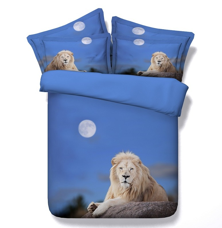 Lion Comforter Set 3d Animal Bedding Duvet Cover Bed In A