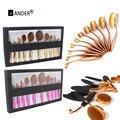10 pcs pincel de maquiagem Ferramentas de Beleza Mulheres Prático Rosto Sombra Em Pó Fundação Cosméticos Make up Brushes Set Kits de Higiene Pessoal Caixa