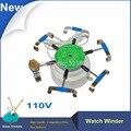 2016 новейший прибор для намотки часов 110 В  машина для проверки ветра на 6 дужках  автоматическая намотка часов  циклотестовые часы для часовщ...
