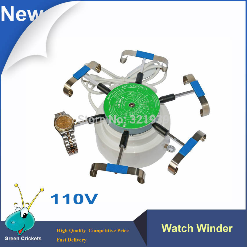 2016 Latest 110V Watch winder,6 Arms Watch Wind test Machine,Automatic Watch Winder Cyclotest Watch For watchmaker 110v automic test cyclotest watch tester watch test machine watch winder for watches