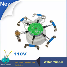 2016 Latest 110V Watch winder 6 Arms Watch Wind test Machine Automatic