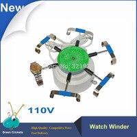 2016 mais recente 110 v assista winder  6 braços assistir máquina de teste de vento  relógio automático dobadoura cyclotest relógio para relojoeiro