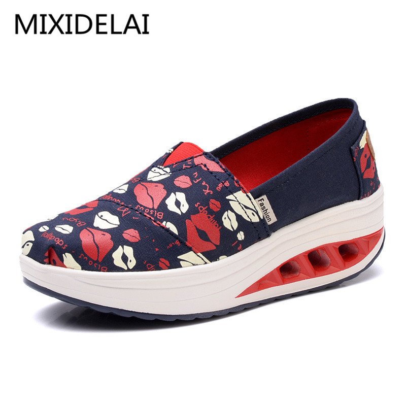 2017 Summer shoes new canvas flats women lazy thick crust shoes fashion women loafers #B1865 2017 summer shoes new canvas flats women lazy thick crust shoes fashion women loafers b1865