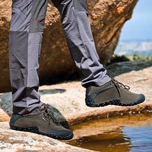 Xiang guan зима Mountain Мужские ботинки теплый шлейф Треккинговые ботинки для Для мужчин восхождение Спортивная обувь резиновая кожа Открытый Тренеры Черный