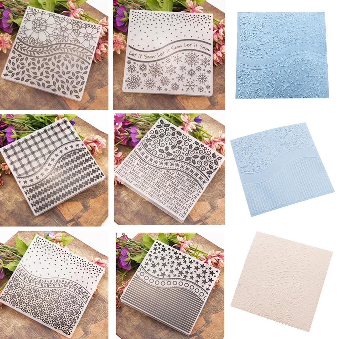 Plastic DIY Embossing Folder Stencils Template Molds Scrapbooking Paper Crafts