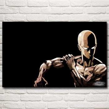 FOOCAME Japanese Anime ONE PUNCH MAN Art Silk Posters and Prints Painting Home Decor Wall Pictures For Living Room 22x35 Inches 1