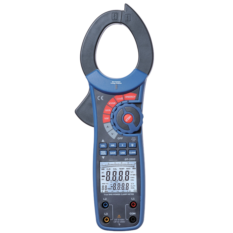 digital clamp meter Power test Digital clip-on table With the USB interface DT-3353 цена