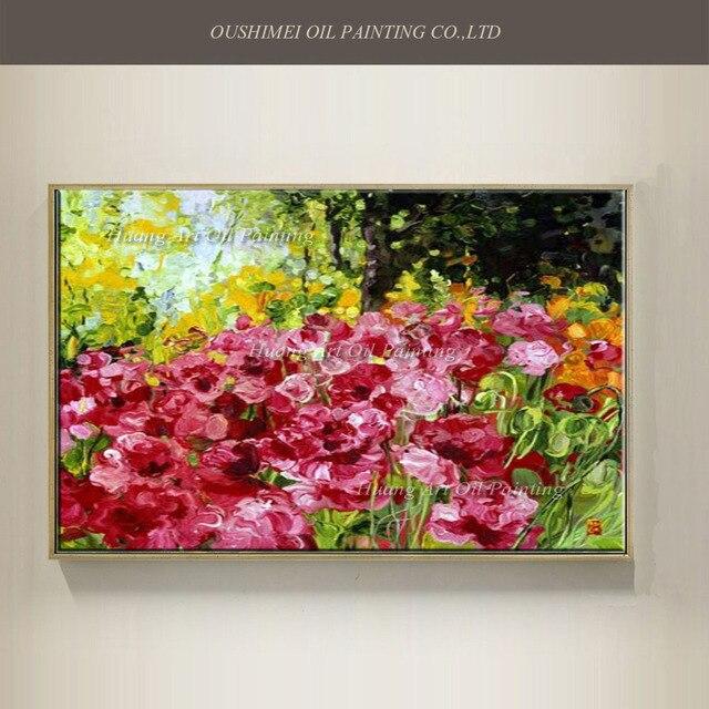 handgemaltes messer blumen lgem lde auf leinwand moderne abstrakte rose landschaft acryl. Black Bedroom Furniture Sets. Home Design Ideas
