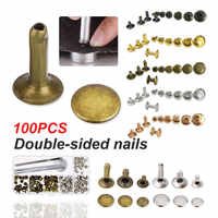 Punk Spike Decoration 100pcs/set Double Cap Rivets for Jackets Belts Jeans Bags Clothing Fabric Leather Craft Accessories Tools