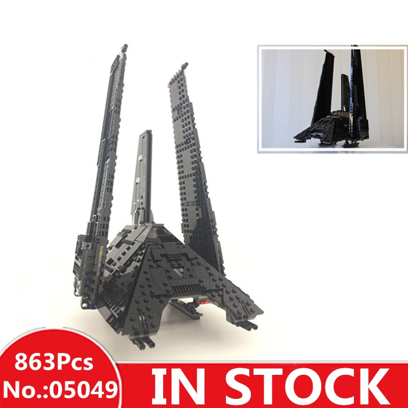 H&HXY IN STOCK 05049 863Pcs Nova The Imperial Shuttle Building Blocks Bricks lepin Christmas Toys Compatible 75156 Gifts