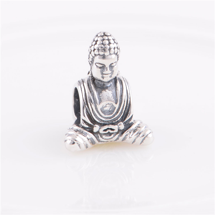 Sterling Silver 925 Fits Chamilia Charms Bracelet Chinese Buddha Religion Charm Beads European Style Women DIY Jewelry Hot Sale sterling silver 925 fits chamilia charms bracelet motorcycle sports design charm beads european style women diy jewelry