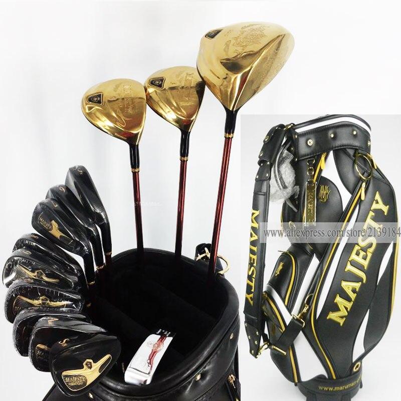 Новый гольф-клубов набор Maruman Величества Prestigio 9 Гольф полный набор 9 5 or10 5 Лофт графит Гольф вала и клубы мешок Бесплатная доставка