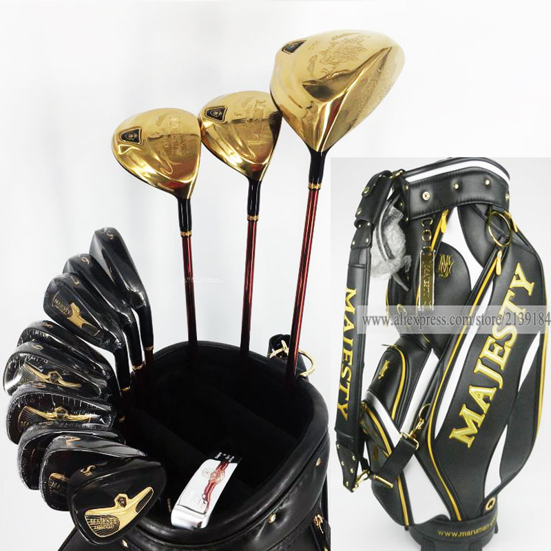 New Golf clubs set Maruman Majesty Prestigio 9 Golf Complete Set 9 5 or 10 5 loft Graphite Golf shaft and Bag Free shipping famous brand polo golf travel wheels standard stand caddy bag complete golf set bag nylon golf cart bag staff cart golf bags