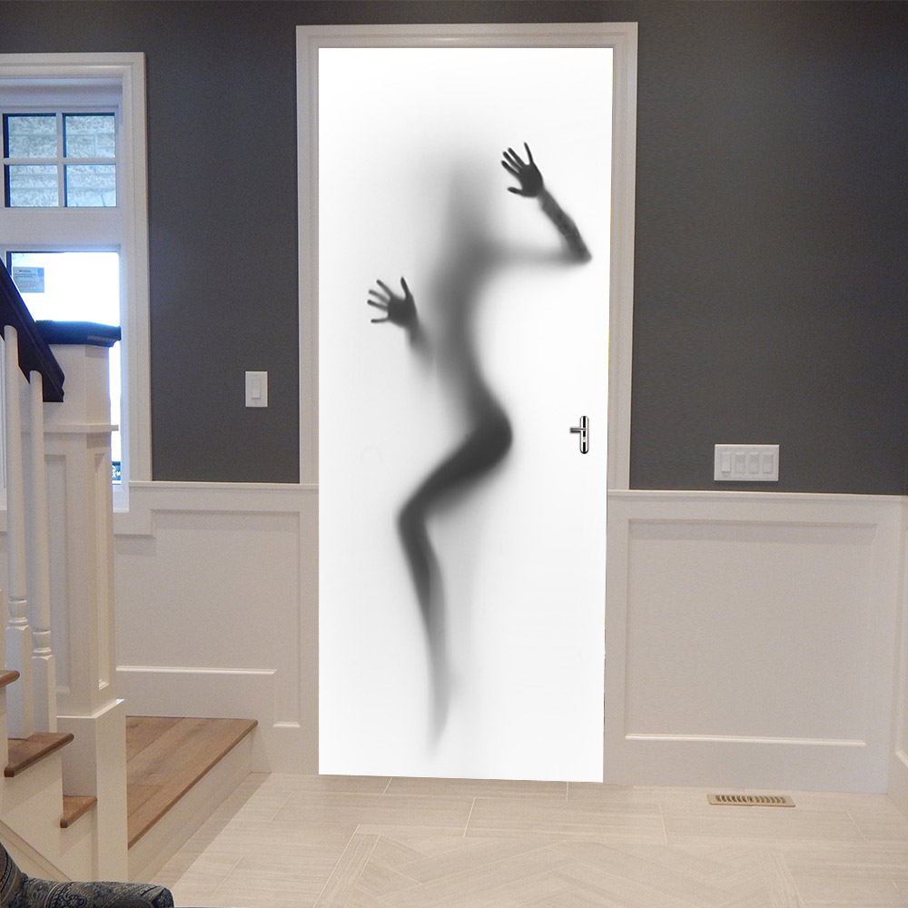 Silhouette <font><b>Sexy</b></font> Girl Bathroom Door <font><b>Stickers</b></font> DIY Removable <font><b>3D</b></font> Door Mural <font><b>Sticker</b></font> Waterproof For <font><b>Wall</b></font> Room Home Decor Decoration image