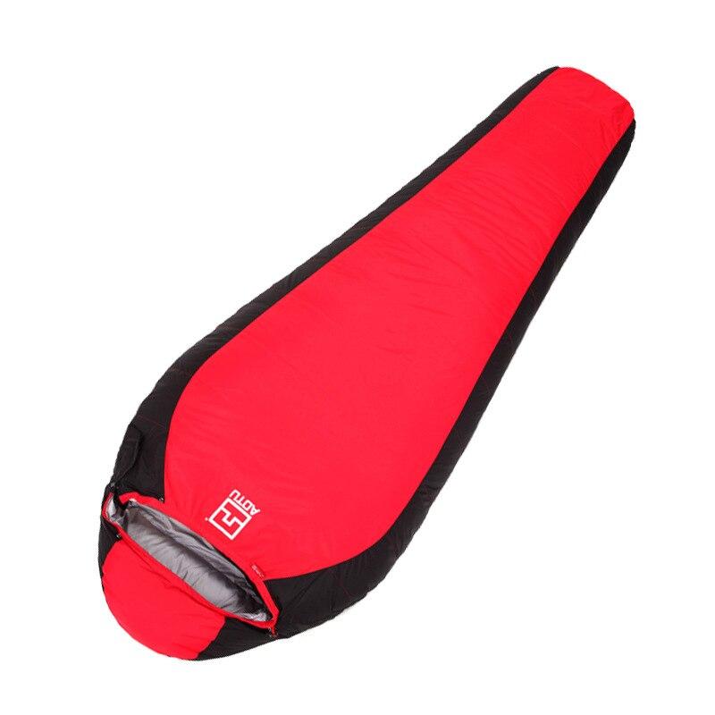 купить free shipping brand aotu 1pc splicing single duck down sleep bag outdoor camping sport adult envelope type winter sleeping bag онлайн