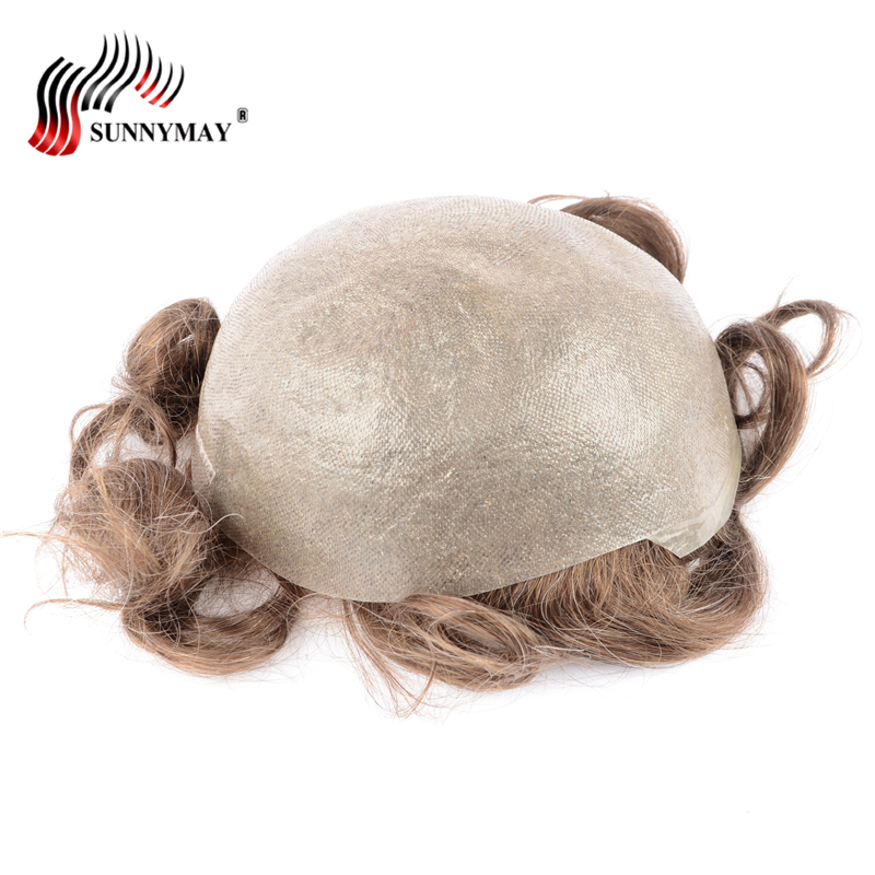 Sunnymay Men Toupee Super Thin Skin Vloop NG,hair repalacemnt,hair pieces , men wig free shipping