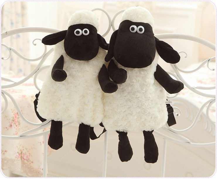 40cm Girl Doll Schoolbag Black Sheep Plush Backpacks Lamb Animal