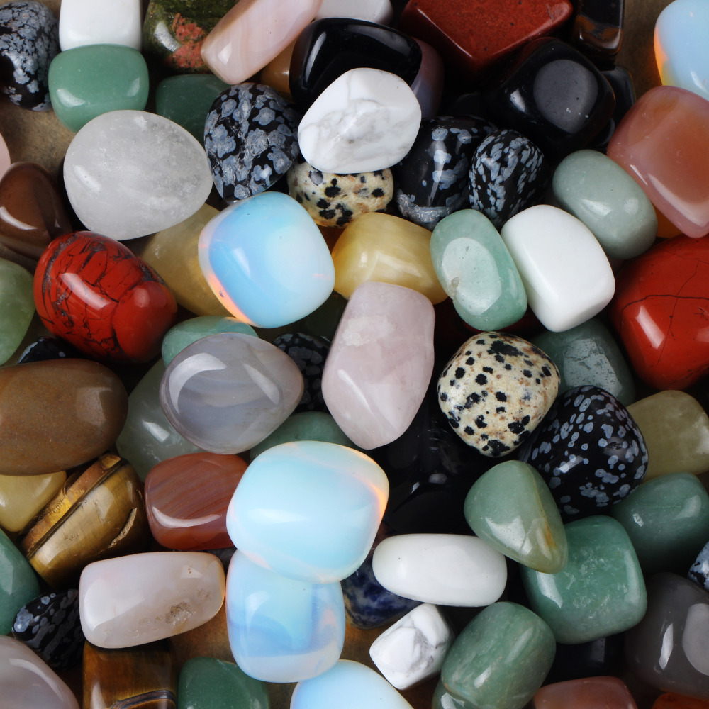 Lapis Assorted Chakra-Healing-Beads Crystal Obsidian Tumbled-Stone Aventurine Bulk Minerals