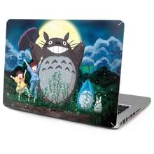 Venta caliente Para Macbook Laptop Vinyl Decal Sticker Superior Frontal Totoro de la piel Para Macbook Air Pro Retina Con Manzana Logo Recorte