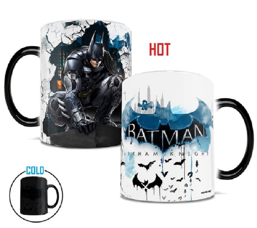 Batman Mugs The Dark Night Coffee Mug Disappearing Mugs Printed Transforming Novelty Heat Changing Color Porcelain Cups