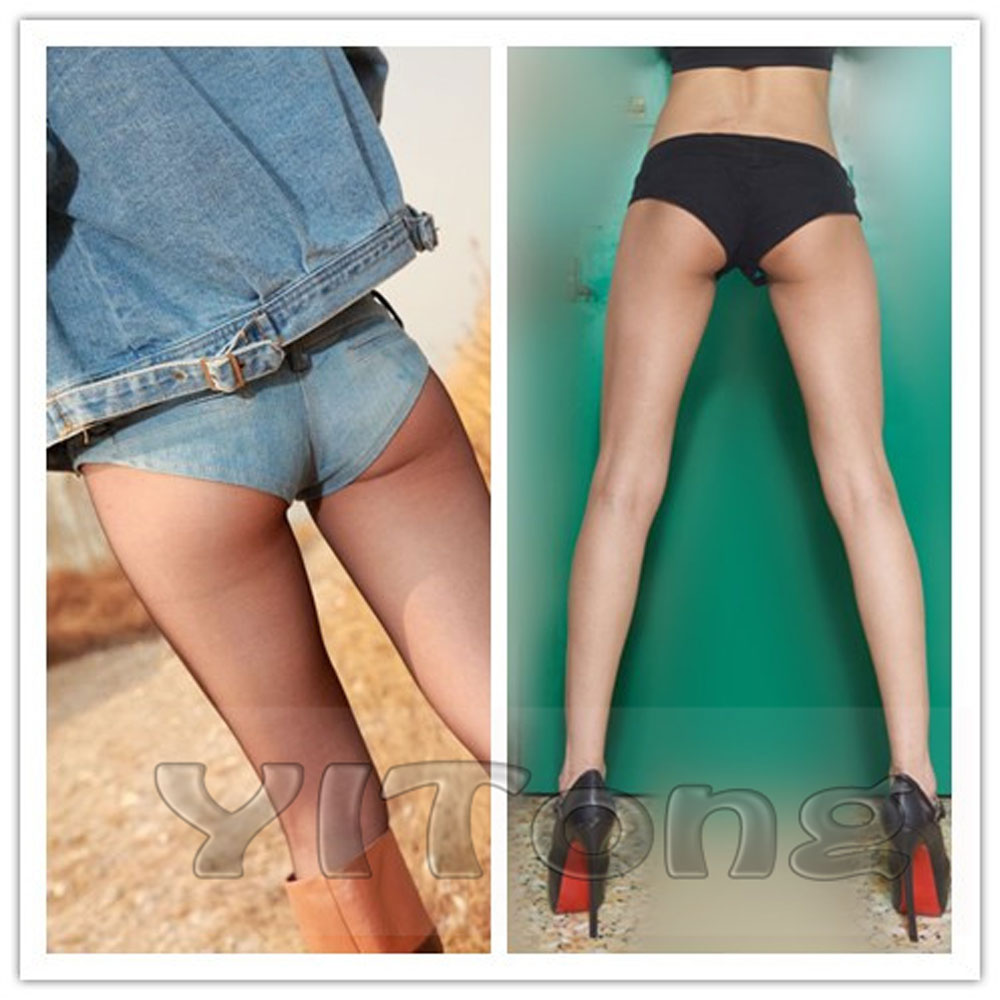 Plus Big Size Sexy Low Waist MINI Denim Shorts Low Rise Waist Erotic Disco Dance Skinny Micro Short Club Wear FX34-39
