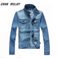 ZOOB MILEY 2017 New Autumn Winter Men Jean Jacket Coat long sleeve High Quality Fashion Slim Fit Denim Jacket Plus Size M-3XL