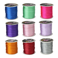 Wholesale 70M/Spool 1MM Mix Color Nylon Black Satin Chinese Knotting Silky Macrame Cord Beading Braided Shamballa String Thread