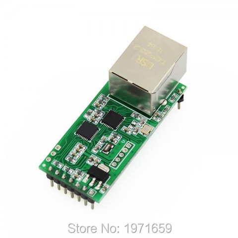 UART RS232 Serial To Ethernet TCP IP Modules With RJ45 Port Support DHCP DNS LAN Used In Industrial Data Transmission Automation