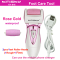 Rose Gold charging cable pedicure electric tools Foot Care Exfoliating Foot Care Tool +2Ps roller pedicure heads Scholls KIMISKY