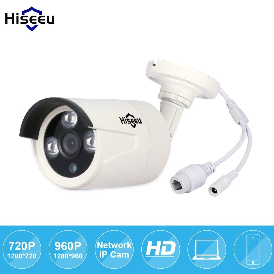 imágenes para Hiseeu HD 720 P 960 P 1/1 MP Mini Cámara Bullet IP POE ONVIF Impermeable Al Aire Libre IR CUT Visión Nocturna P2P remoto freeshipping HB6