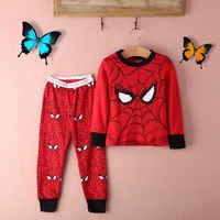 2015 hiver et automne 2016 bambin garçon spiderman pyjamas ensemble coton garçons pyjamas à manches longues pijamas ensemble enfants pyjama enfant