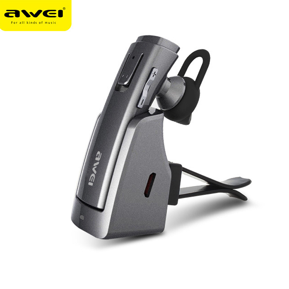 AWEI A833BL Stereo Bluetooth Earphone Car Bass Wireless Bluetooth 4.1 Headset Earbud HandsFree For SmartPhone Free Shipping remax 2 in1 mini bluetooth 4 0 headphones usb car charger dock wireless car headset bluetooth earphone for iphone 7 6s android