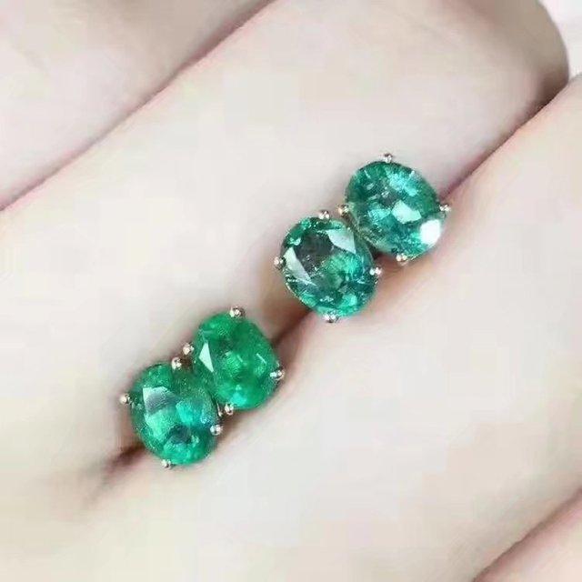 beste schoenen buy best leuk US $144.0 10% OFF LANZYO 925 sterling zilver Emerald Oorbellen cadeau voor  vrouwen sieraden emerald Wedding Oorbellen Fijne Sieraden e040601agjml in  ...