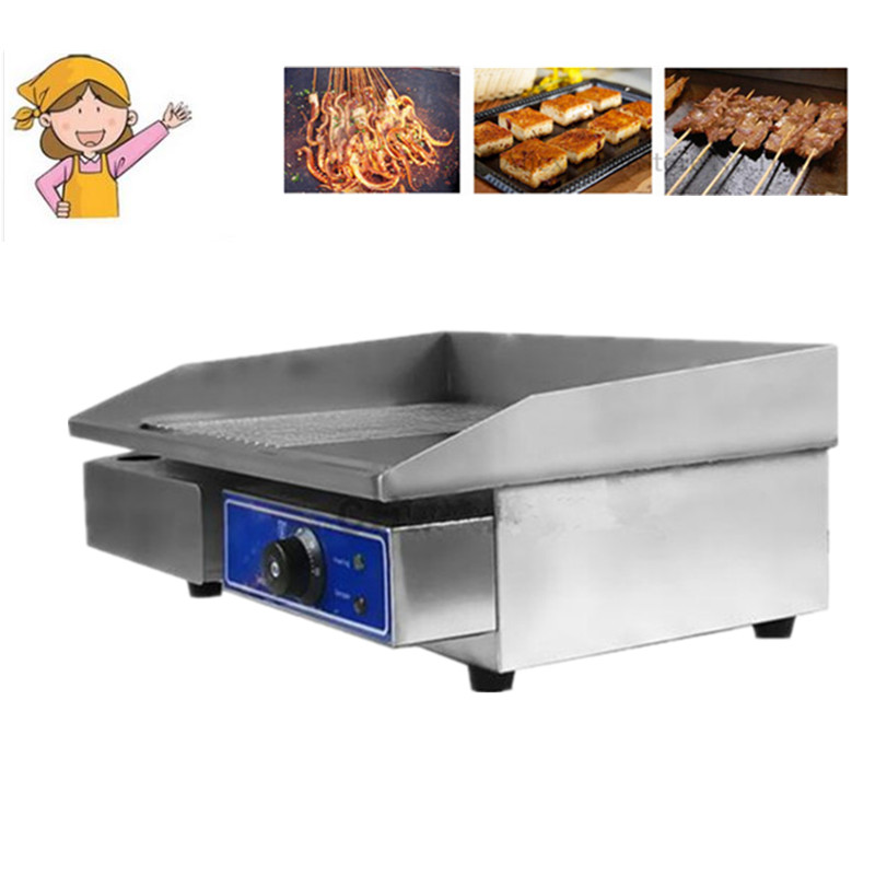 Restaurant equipment for sale commercial home use thermostat electric griddle machine  electric contact grill