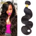 1 Unid 7A Peruana Virgin Hair Body Wave 50 g/Pc Peruano Cuerpo onda del Color Natural Del Pelo Peruano Extensiones de Cabello Humano Sin Olor 1B